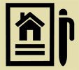 Home report and pen icon